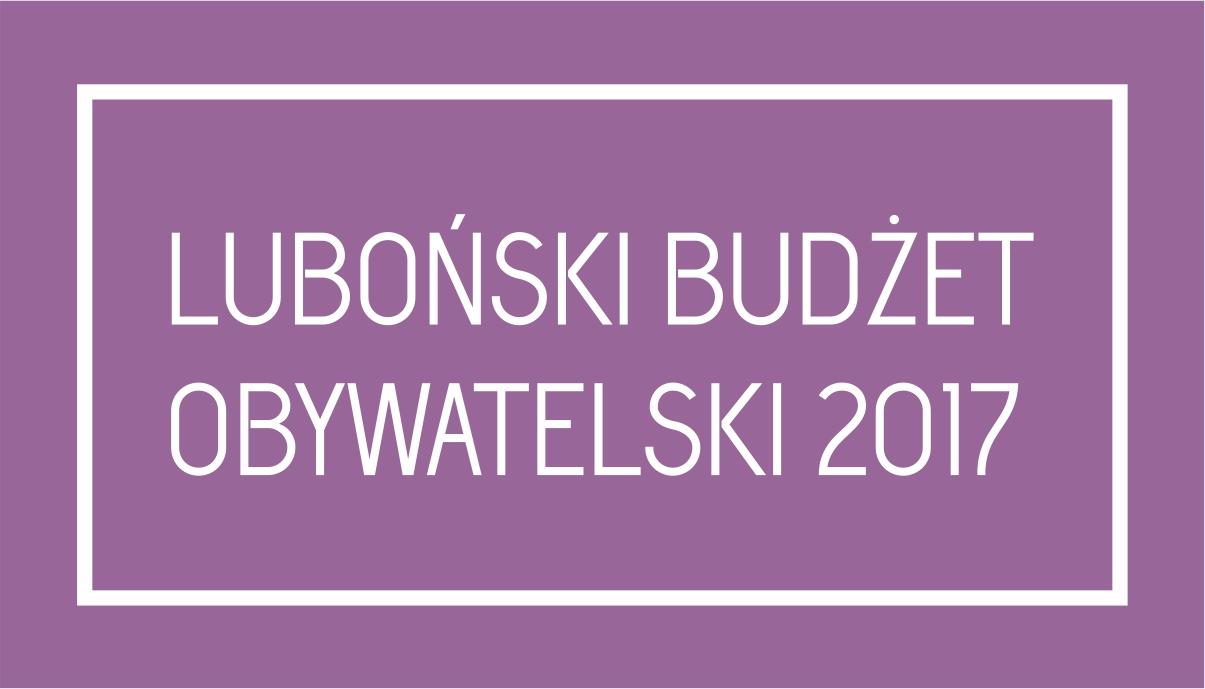 Logotyp Budżet Obywatelski Luboń