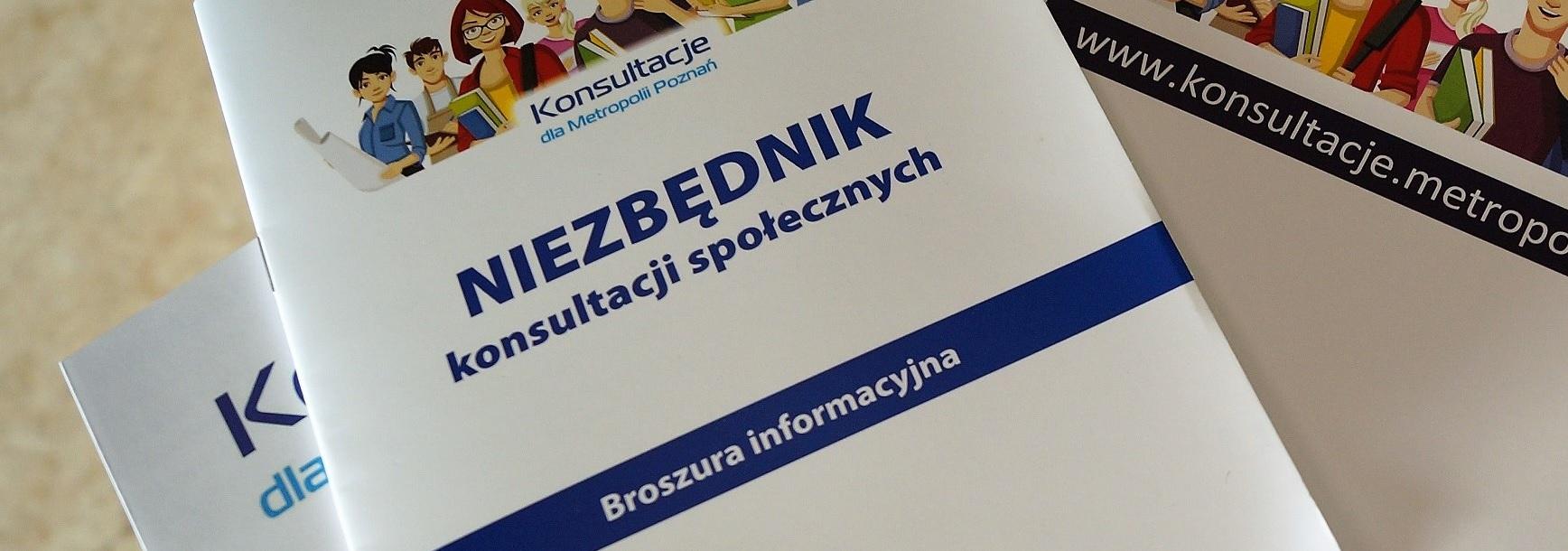 Fotografia broszury Niezbędnik konsultacji społecznych