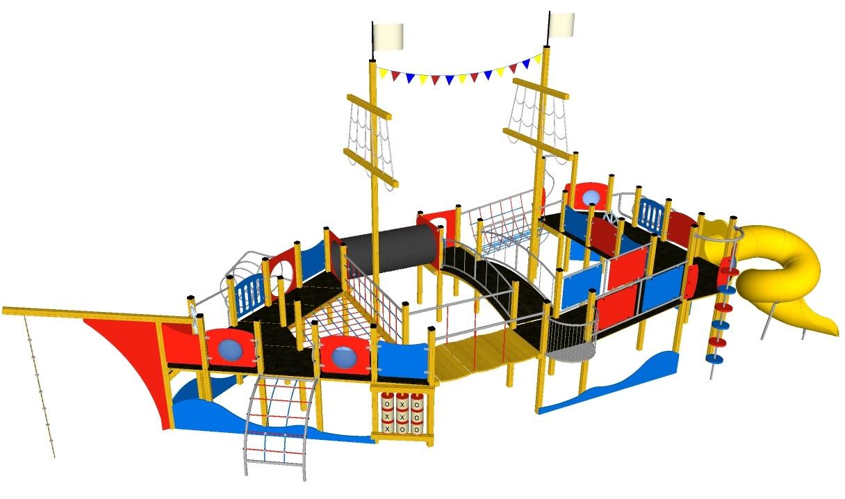 Grafika - urządzenia na plac zaba - statek
