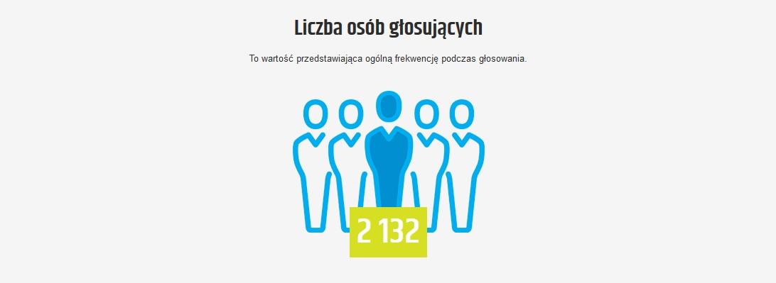 Grafika - liczba głosujących