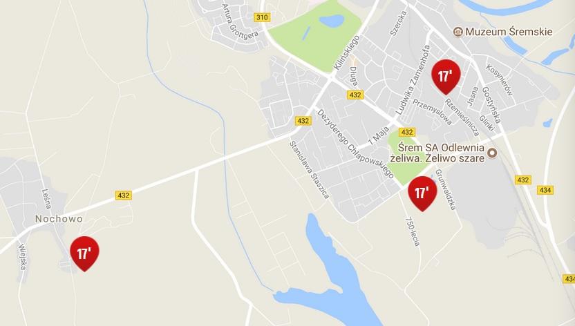 Lokalizacja projektów na mapie