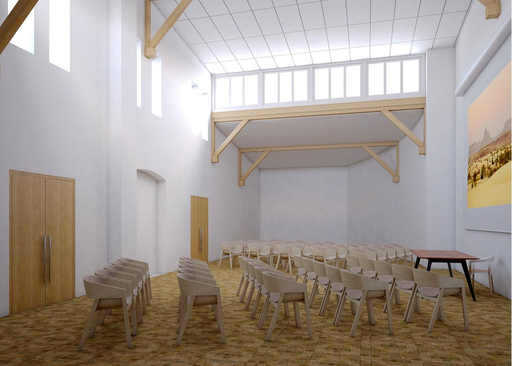 Wizualizacja projektu modernizacji budynku Starej Lwiarni